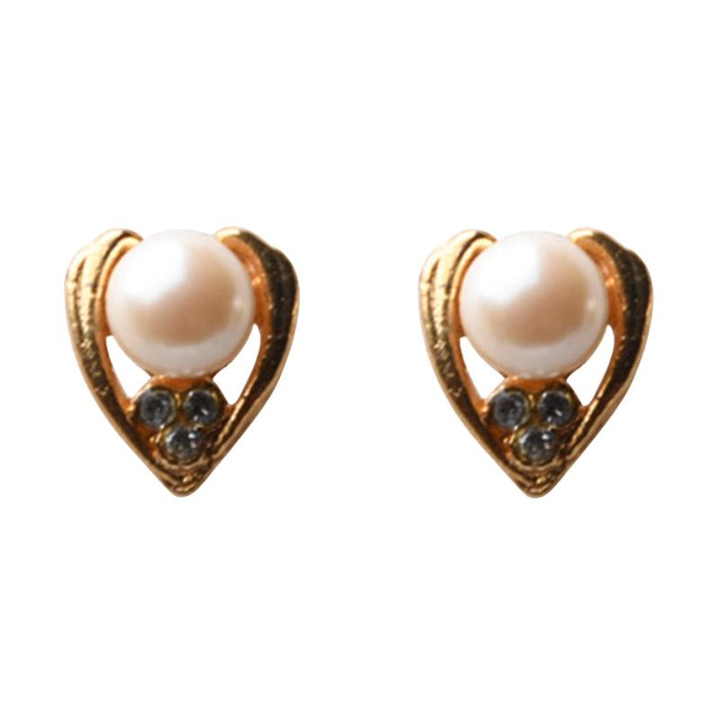 1901 Jewelry GW.3502.HR50 Pearl Studs 3502 Anting - Gold [Lapis Emas 24K]