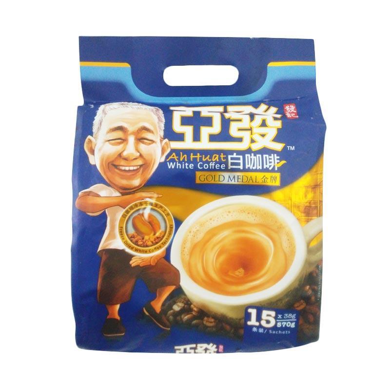 Ah Huat White Coffee Gold Medal Almond Kopi Instant [38 g/ 15 Sachet]