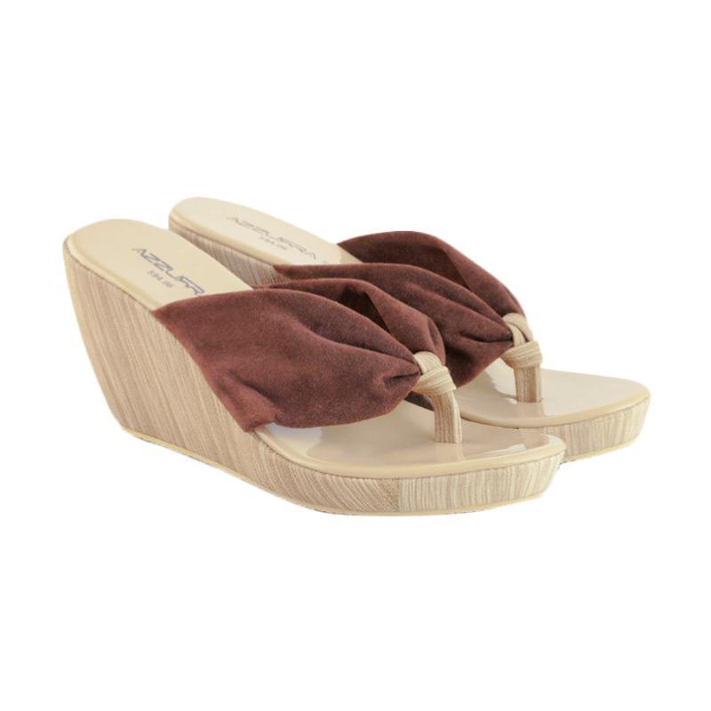 harga Azzurra 594-06 Syntetis Sandal Wedges Wanita - Kombinasi Blibli.com