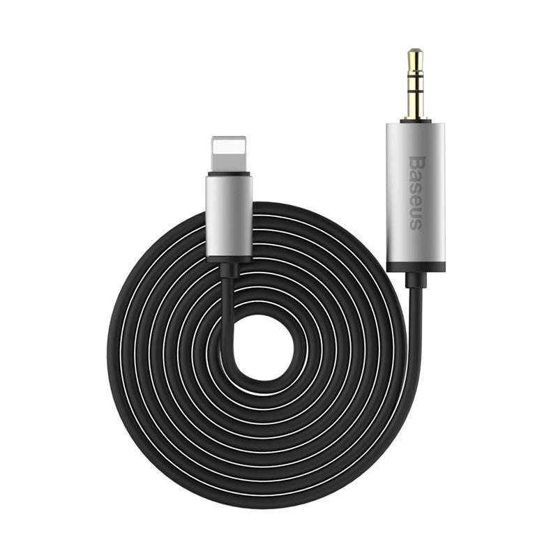 Baseus Enjoy Apple Transfer Male Audio Cable - Silver Black [2 M]