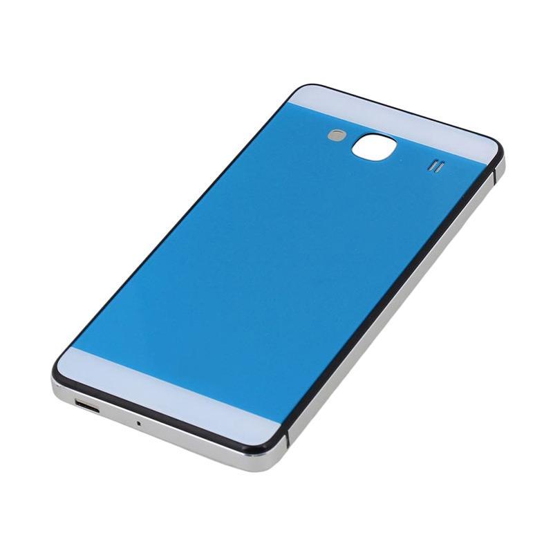 Jagostu Back Door Glass Hardcase Casing for Xiaomi Redmi 2 Prime - Blue