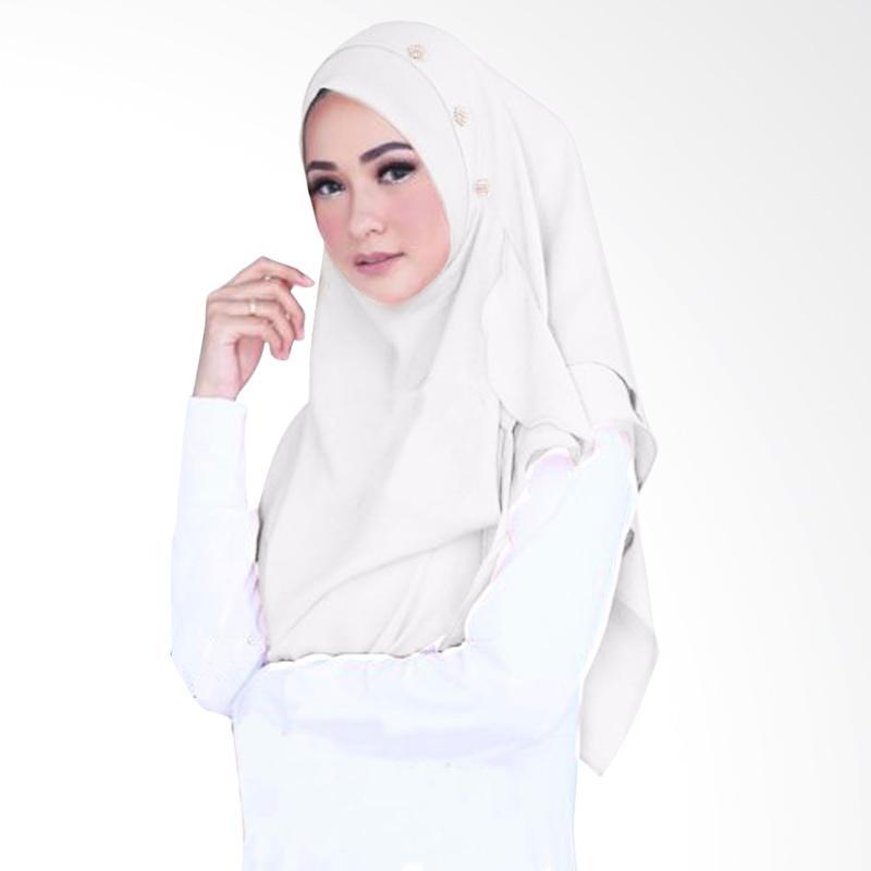 Milyarda Hijab Flowing Swarovski Hijab Instant - White