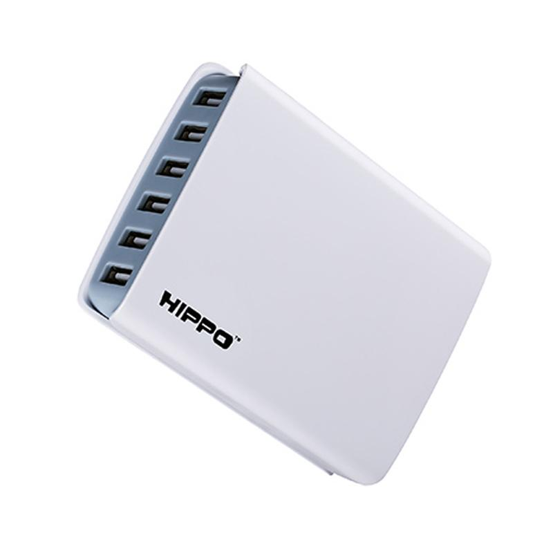 Hippo Enina Multi Adaptor Charger [6 Ports USB/Simple Pack]
