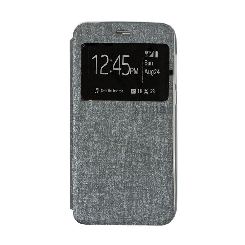 Uma Flip Cover Casing for Meizu M2 - Silver