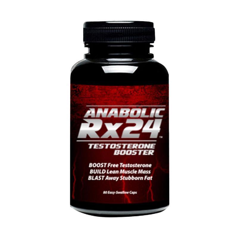 Suplemen Pria Anabolic Rx24 USA Obat Kuat Ampuh Obati Lemah Syahwat - Paket 2 Botol Black/Violet