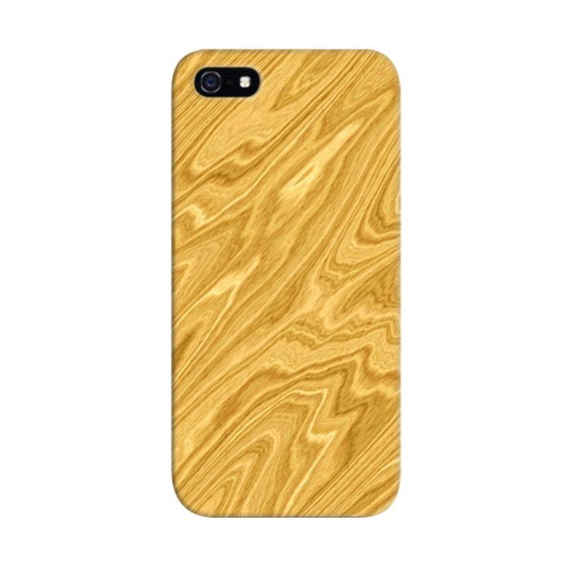Indocustomcase Wood Beige Custom Hardcase Casing for iPhone 5/5S/SE