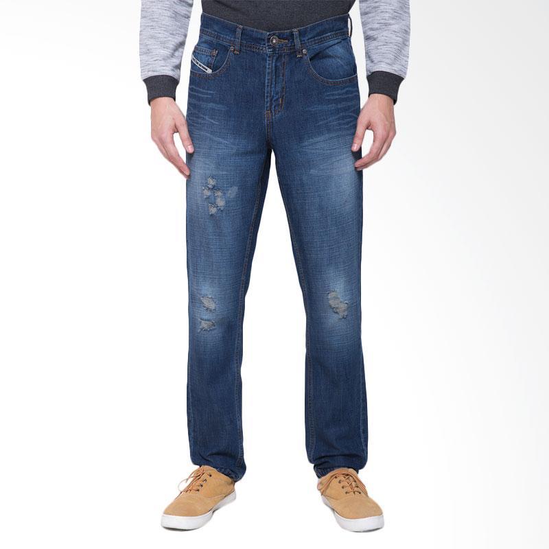harga People's Denim Men Jeans Kenton Ripped Washed Celana Pria - Biru Blibli.com