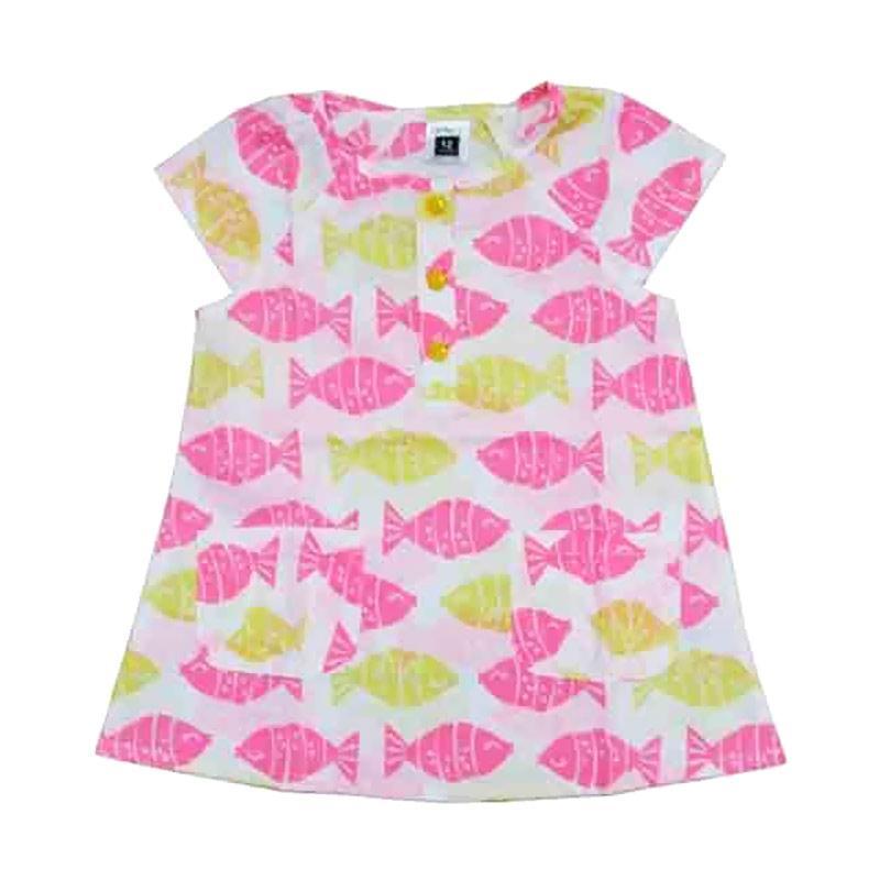 Wonderland Dress Fish Color Dress Anak - Multicolor