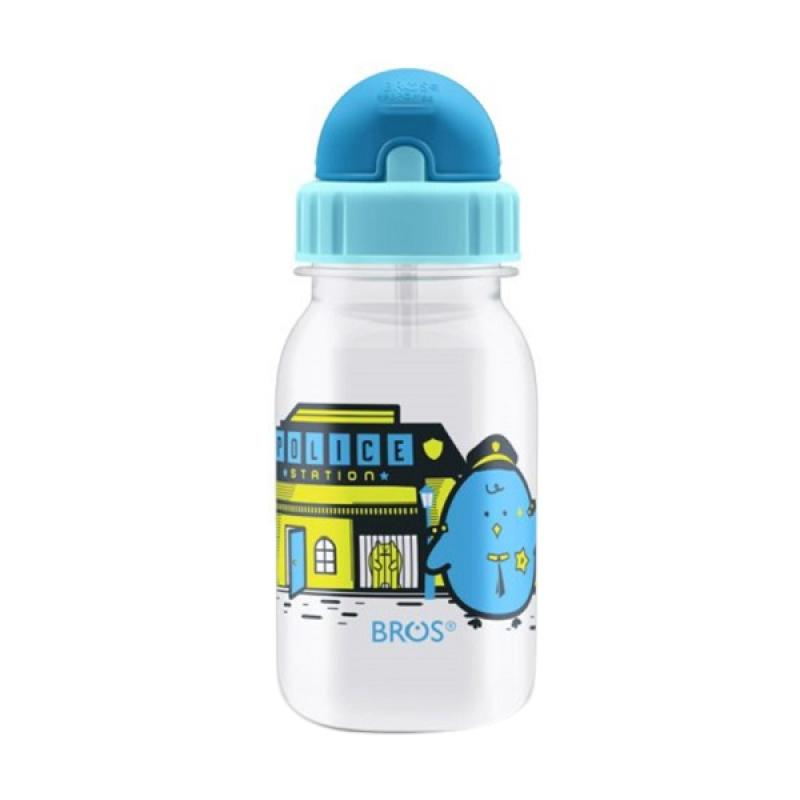 harga Bros Crystal Plus Mr. Tama Cop Bottle Straw Botol Minum - Sky Blue [350 mL] Blibli.com