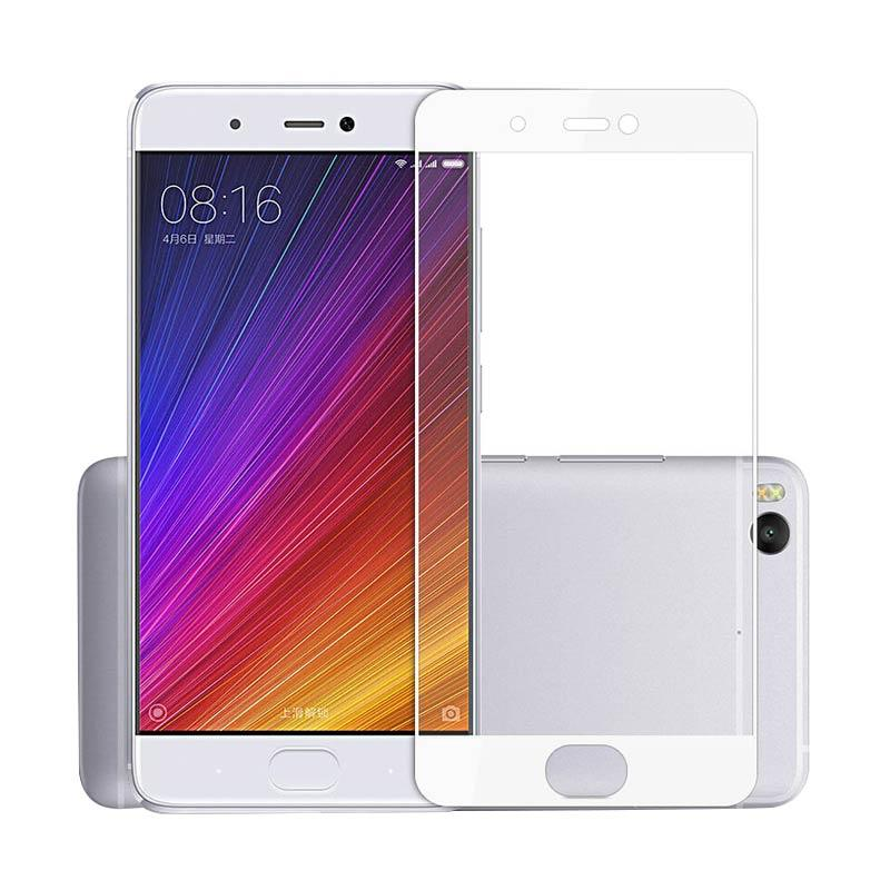 Tempered Glass Screen [Full Cover] Protector for Xiaomi Redmi Note 4 - Lis Putih