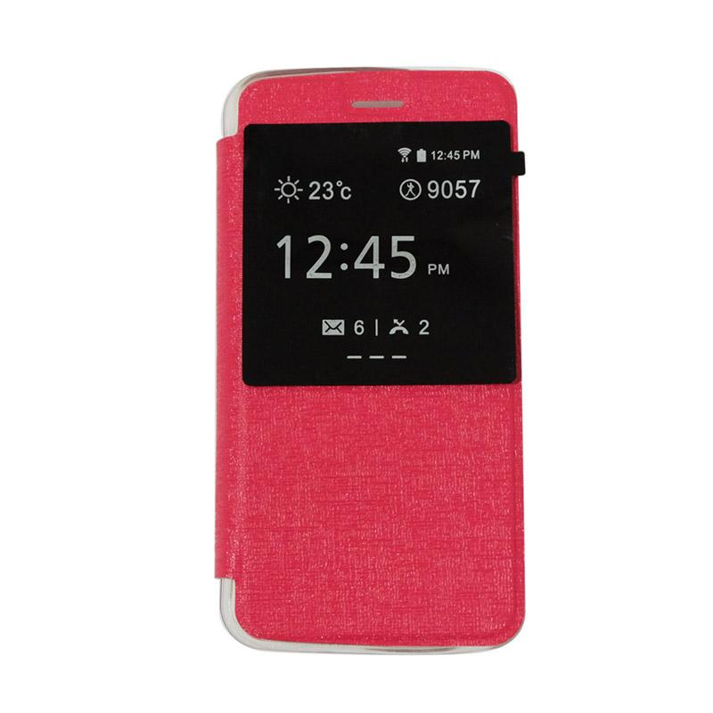 Ume Flipshell Flip Cover Window Casing for Andromax C3S - Pink