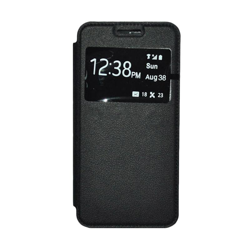 OEM Leather Book Cover Casing for Sony Xperia Z3 Compact - Black