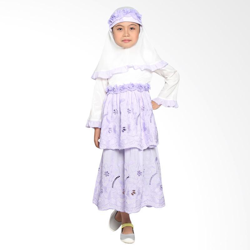 Pretty Girl 3Passion Dress Muslim Anak - Purple