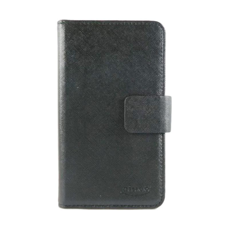 AIUEO Wallet Leather Flip Cover Casing for Universal Berlin 5 Inch - Hitam
