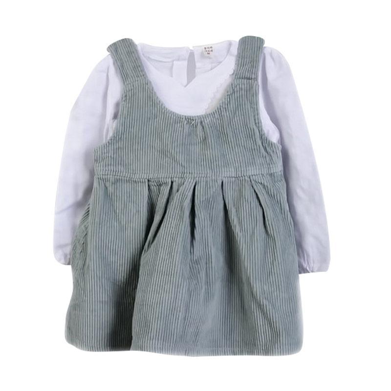 Chloebaby Shop F978 Overall Shirt Suspender Baju Anak - Green
