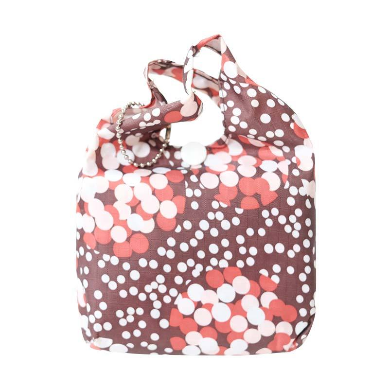Deeneve Foldable Eco-Bag Dots Tote Bag - Brown