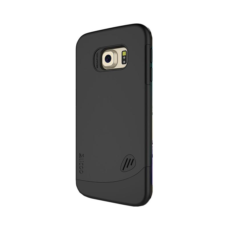 Slicoo Frosted Back Side Hardcase Casing for Samsung Galaxy S6 Edge - Black