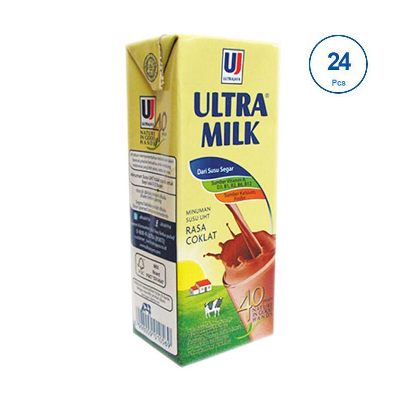 harga Groceries - Ultra Jaya Ultra Milk Cokelat Minuman Susu [250mL/ 24 pcs] Blibli.com