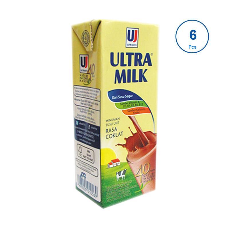 Ultra Jaya Ultra Milk Cokelat Minuman Susu [250mL/ 6 pcs]