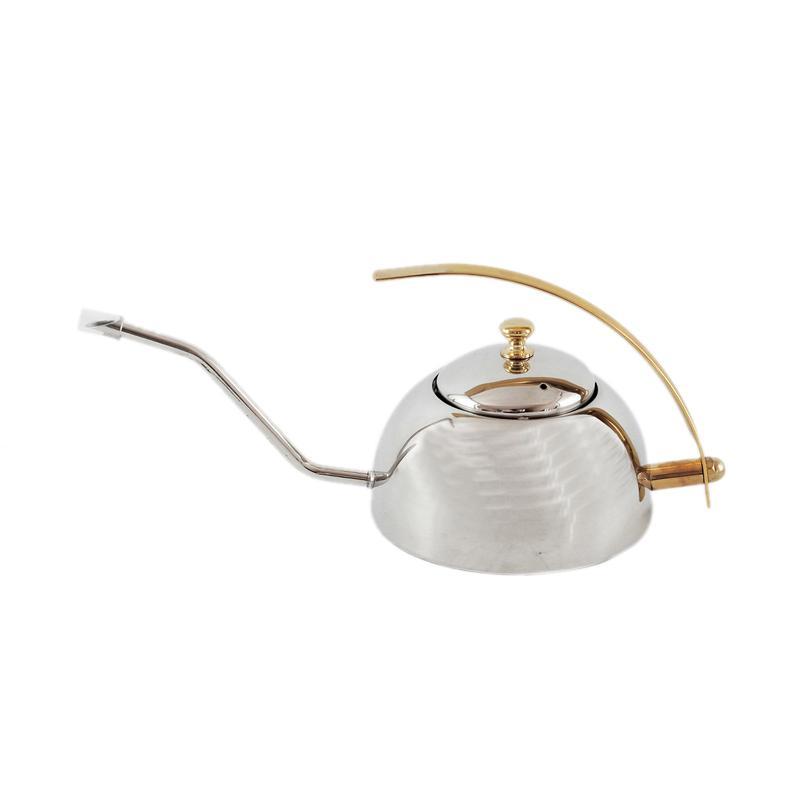 Worcas Drip Pot Kettle Leher Angsa Stainless Steel [600 mL]
