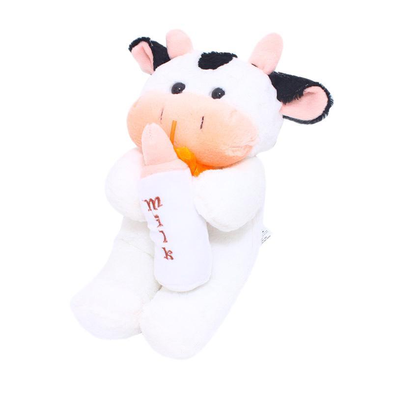 Istana Kado Milk Cow Sapi dengan Botol Susu Dot Boneka