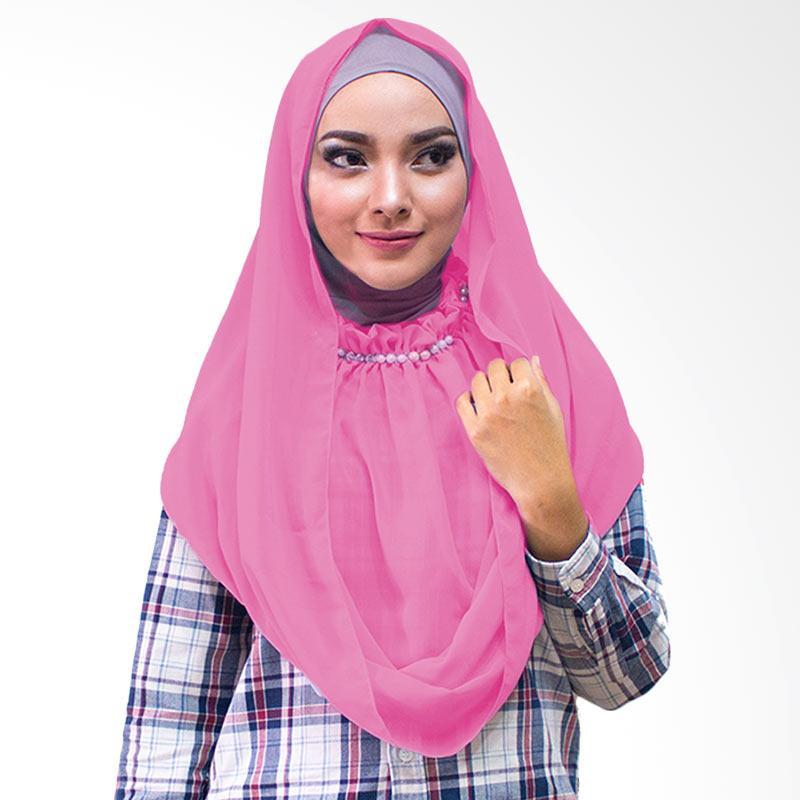 Milyarda Hijab kalung Putri Kerudung Instan - Pink