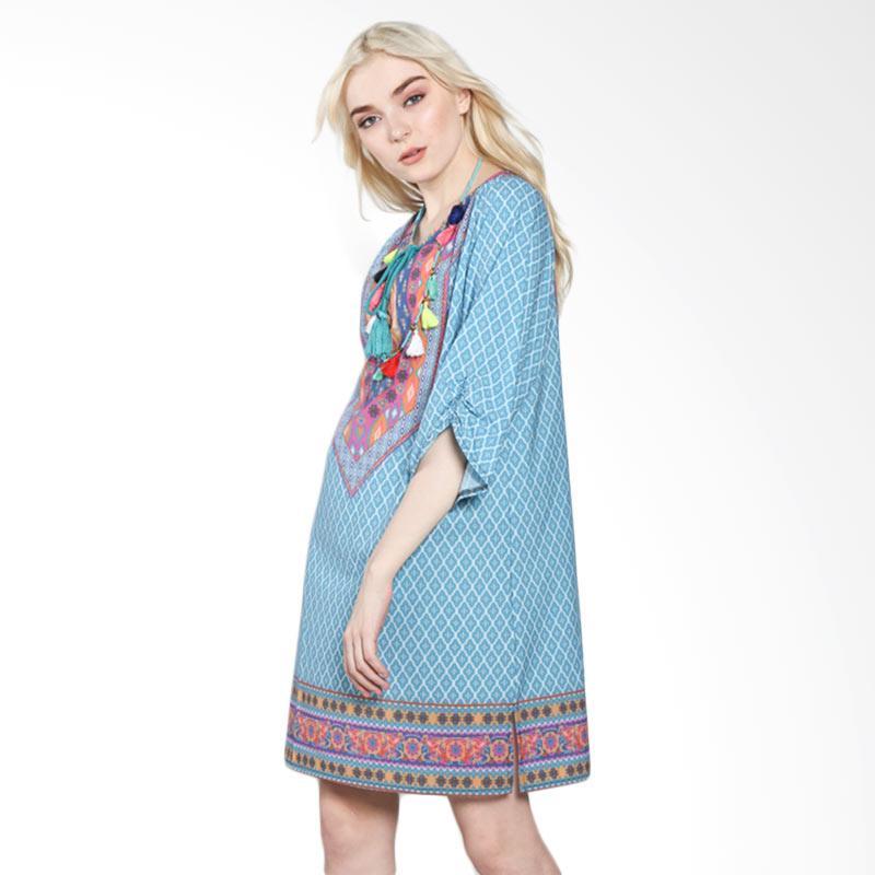 harga Papercut Fashion C28 Bohemian 5531 Mini Dress - Light Green Blibli.com