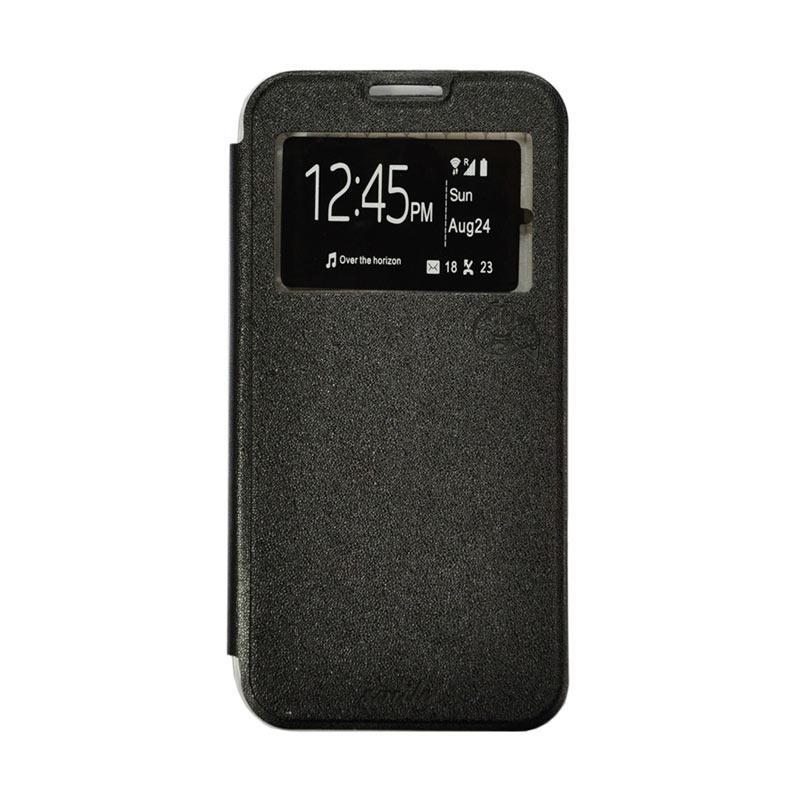 Smile Flip Cover Casing for Samsung Galaxy Grand Max - Hitam