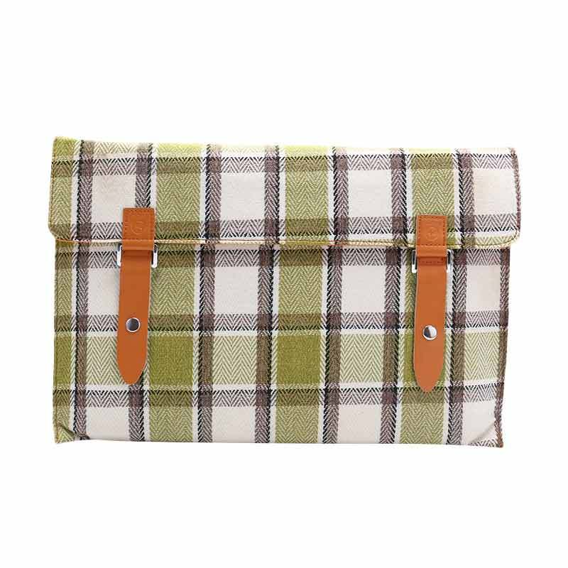 Cooltech Tas Laptop Tweed Flanel Softcase Sleeve Case for Macbook 13.3 Inch - Hijau