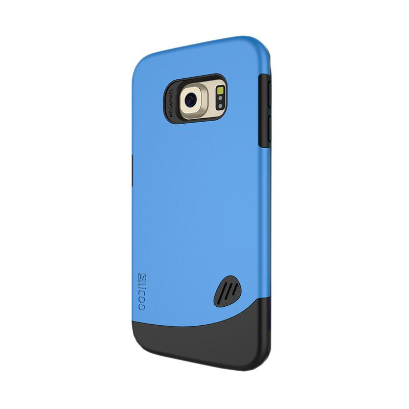 KIM Slicoo Frosted Back Side Hardcase Casing for Samsung Galaxy S6 Edge - Blue