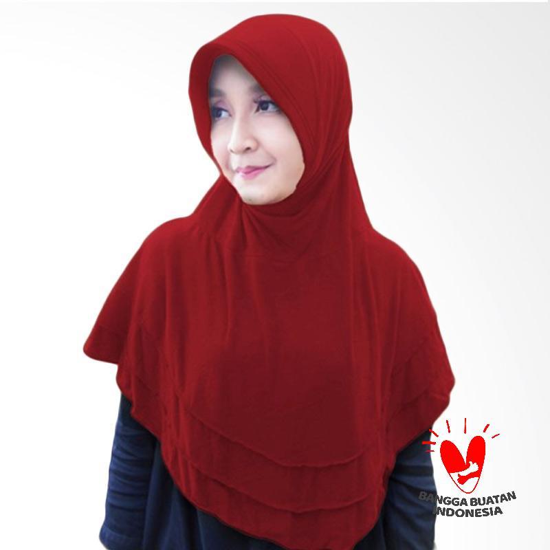 Milyarda Hijab Bergo Plat Kerudung Instant - Maroon