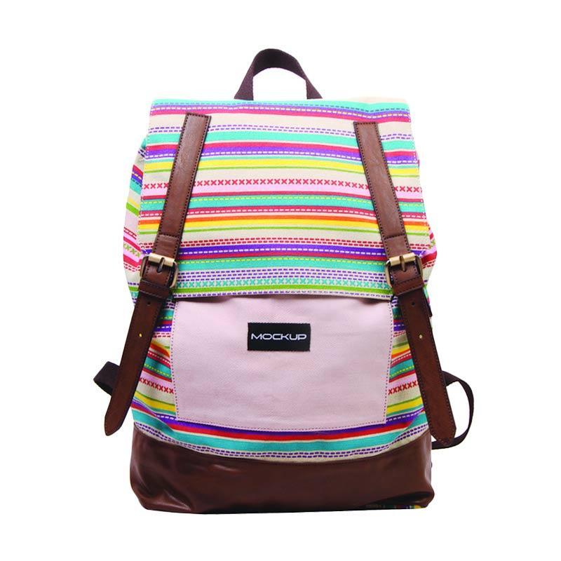 Mock Up BBP.57 Daily Backpack Tas Wanita - Baby Pink Choco Brown