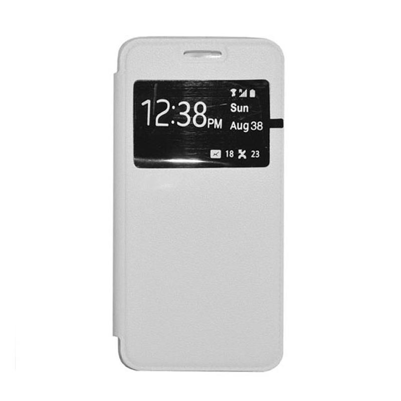 OEM Leather Book Cover Casing for Samsung Galaxy Note 4 - White