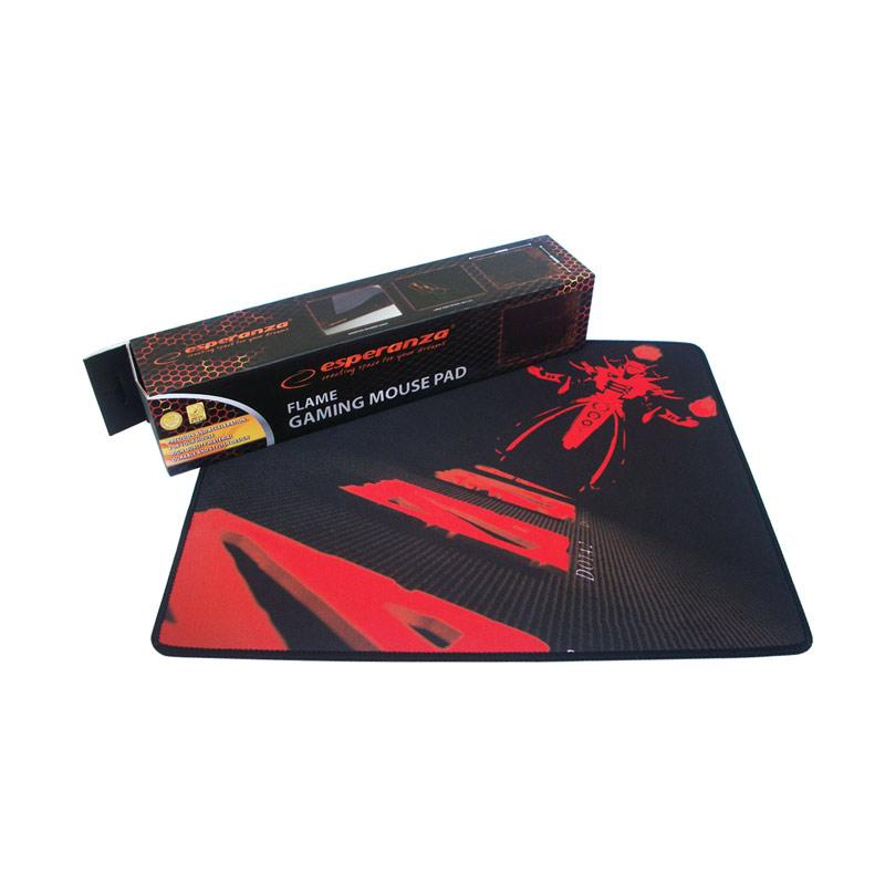 Steel Series DOTA 2 Mouse Pad Gaming - Hitam Merah [45 x 35 cm]