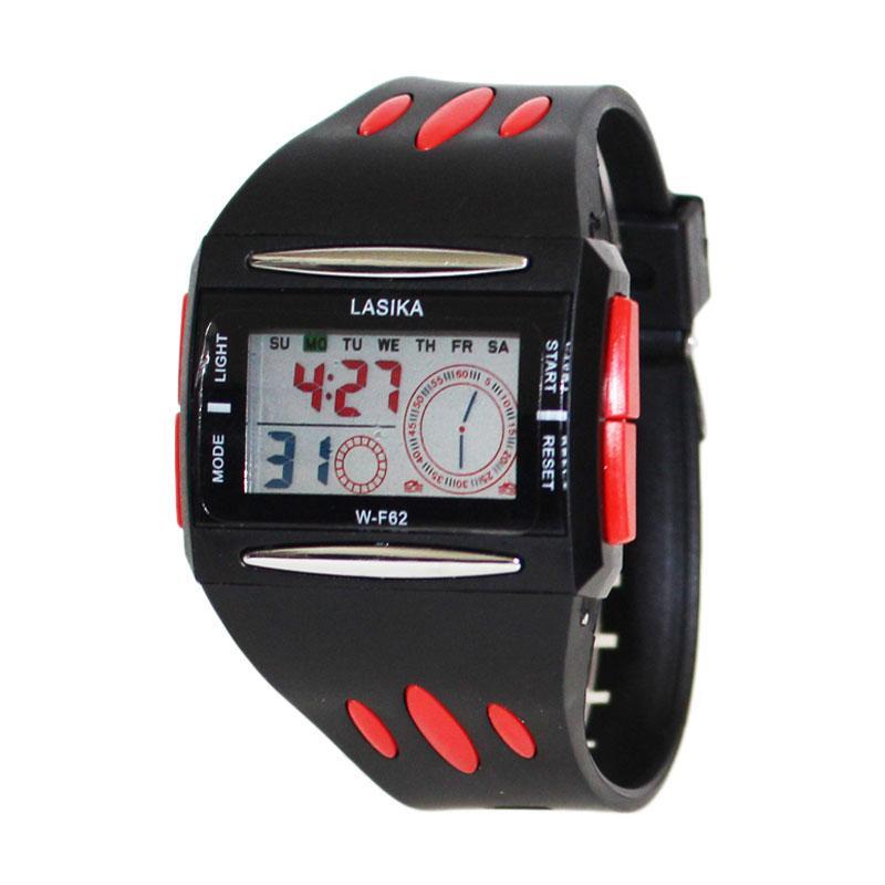 Lasika PILOT W-F66 Jam Tangan Anak Sporty Water Resistant - Bonus Baterai - Hitam Merah