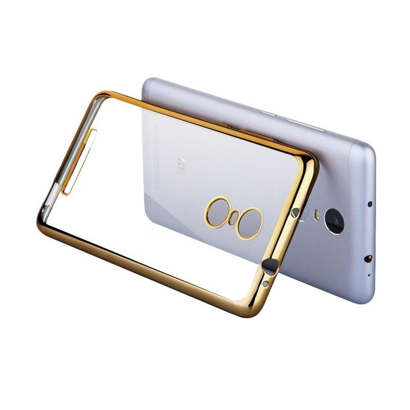 OEM Shining Chrome Softcase Casing for Xiaomi Redmi Note 3 - Gold