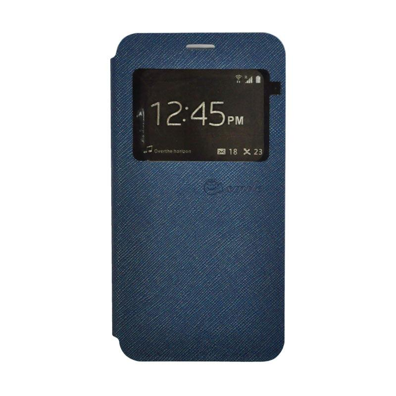 SMILE Standing Flip Cover Casing for Xiaomi Mi 5s - Navy Blue
