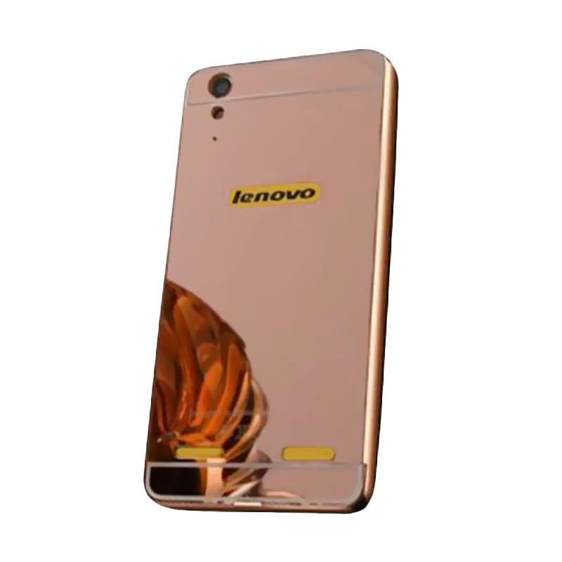 Bumper Mirror Sliding Casing for Lenovo A7000 - Rose Gold