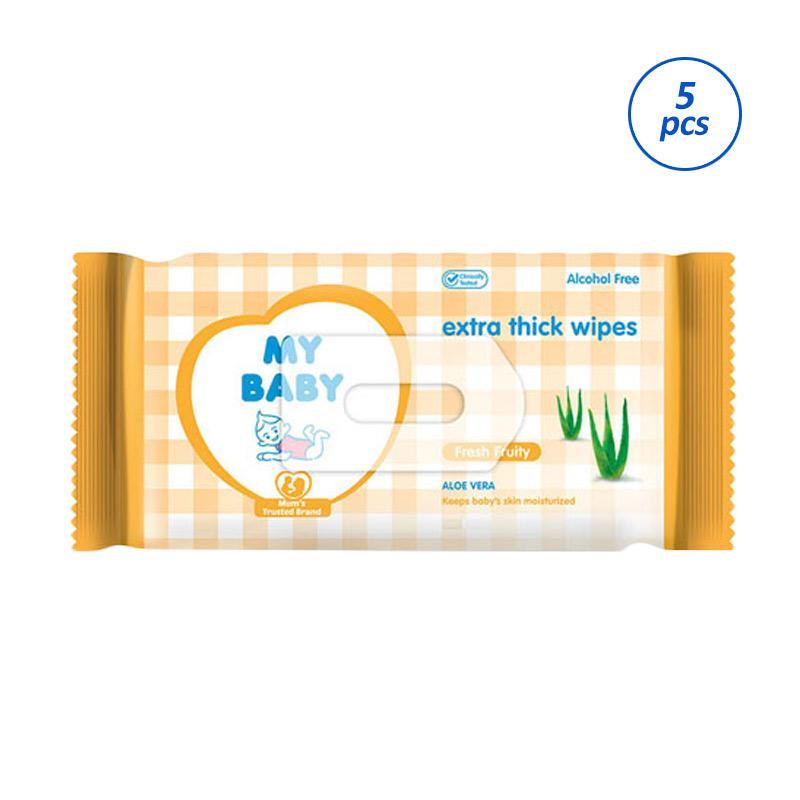 My Baby Extra Care Fresh Fruity Tissue Basah [10 Sheets/Isi 5]