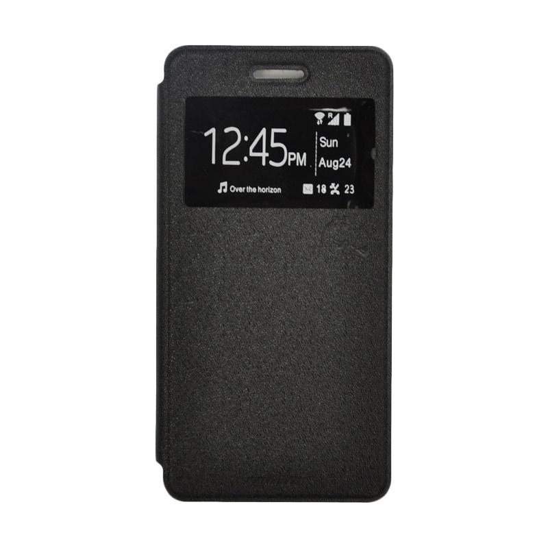 SMILE Standing Flip Cover Casing for Samsung Galaxy J1 - Black