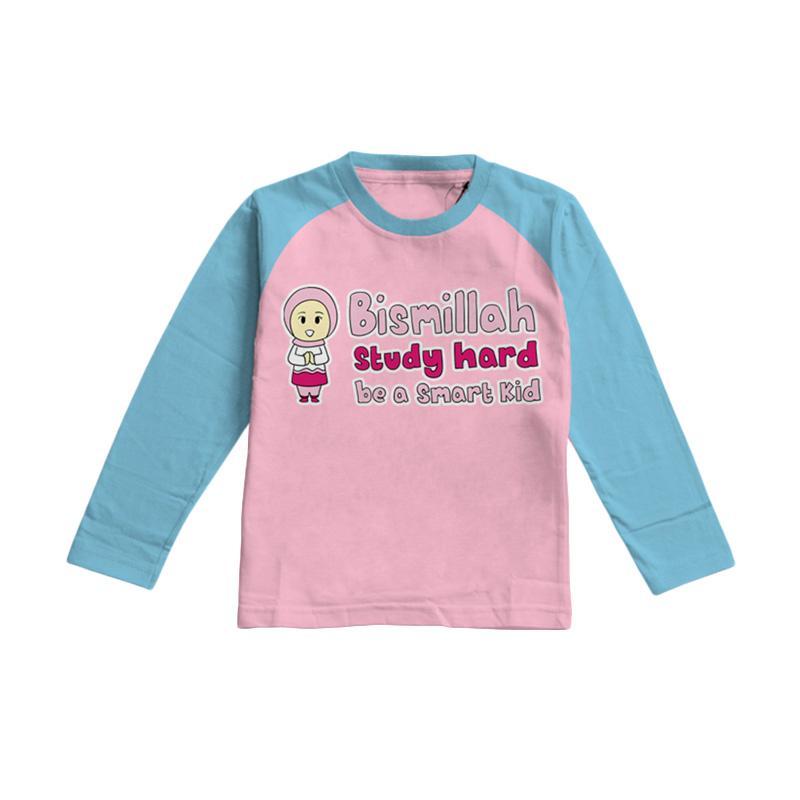 Aitana AiK-16-010 Studyhard Kids Kaos Muslim Anak Perempuan - Pink