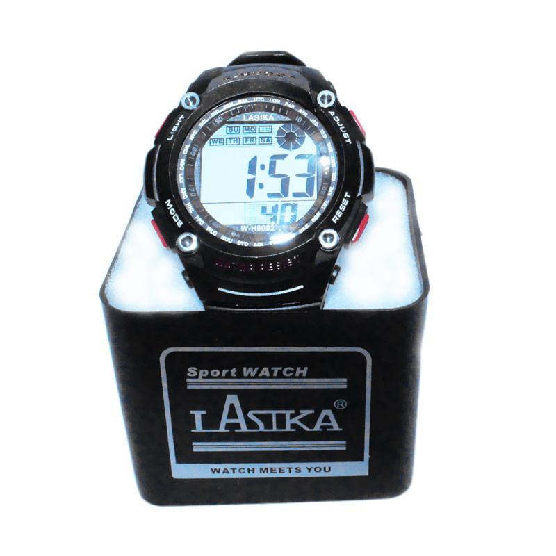 Lasika W-H9002 Sporty Jam Tangan Pria - Hitam Merah