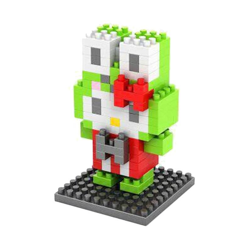 LOZ 9176 Hello Kitty Green Mainan Blok dan Puzzle