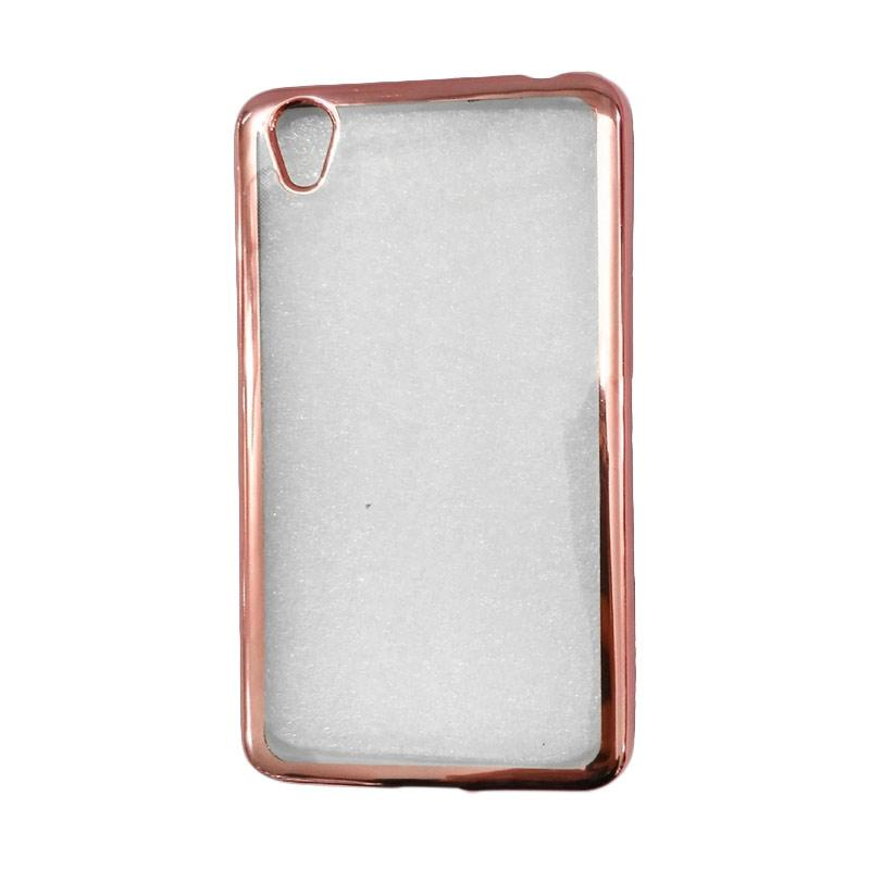 OEM Shining Chrome Softcase Casing for Vivo Y51 5 Inch - Rose Gold