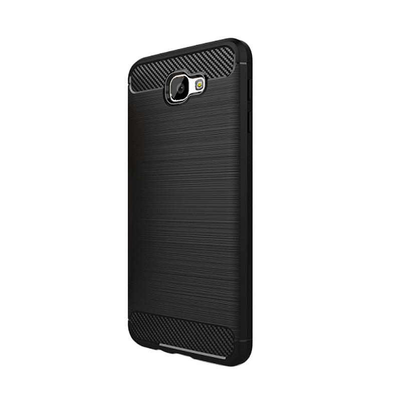 Ipaky Carbon Rugged Casing for Samsung Galaxy J7 Prime / On7 2016 [Hitam]