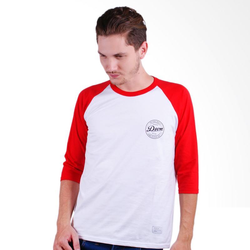 DSVN Gainel Printed Ragland T-Shirt Pria - White Red Extra diskon 7% setiap hari Extra diskon 5% setiap hari Citibank – lebih hemat 10%