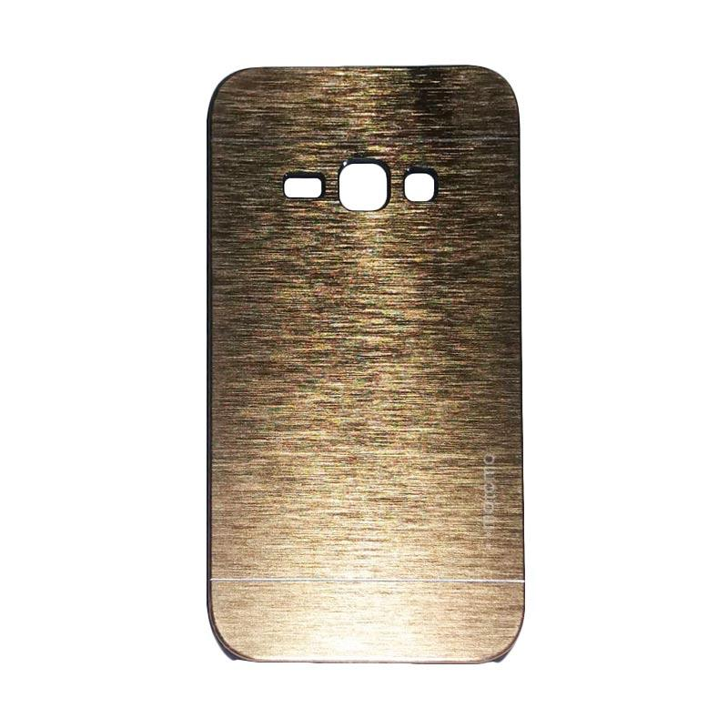Motomo Metal Hardcase Casing for Samsung Galaxy J1 J100F - Gold