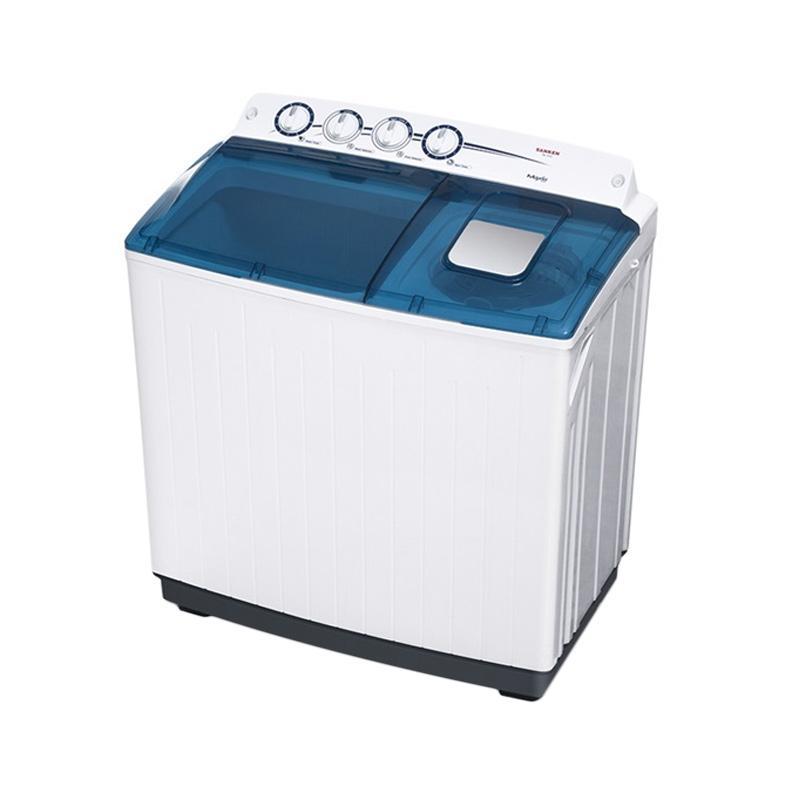 harga Sanken TW-1555 Mesin Cuci - Putih [2 tabung/14 kg/Khusus Jabodetabek] Blibli.com