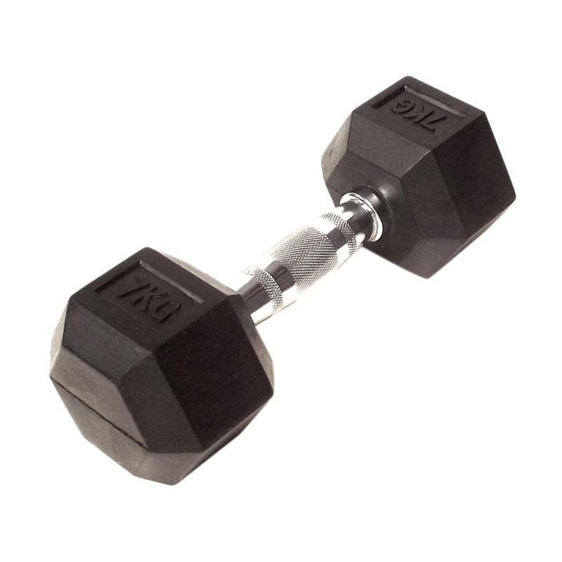 harga Toko Alat Fitnes Body Gym Dumbell Rubber HEX [7 kg] Blibli.com