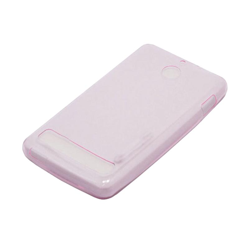OEM Ultra Thin Jelly Softcase Casing for Sony Xperia E1 - Pink